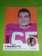Buy VINTAGE VINCE PROMUTO REDSKINS 1969 TOPPS #158 HIGH BOOK VALUE