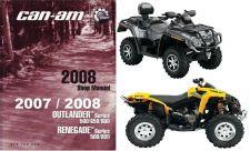 Buy 07-08 Can-Am Outlander Renegade ATV Service Manual CD --- BRP CanAm 500 650 800