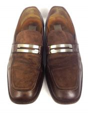 Buy Mezlan Shoes 10 Mens Brown Leather Loafers