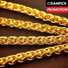 "Buy 24"" Thai Baht 22k 23k 24k Yellow Gold Plated Franco Chain Necklace Jewelry N005"