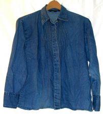 Buy EUC women's, sz. L, SHAVER LAKE,, blue, long sleeve, denim shirt