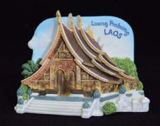 Buy 3D SCULPTURE FRIDGE MAGNET MEMORIAL PLACE LUANG PRA BANG LAOS COLLECTIBLE GIFT