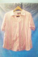 Buy EUC women's, Sz. 2X BASIC EDITIONS multi-color button down/pullover shirt combo
