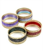 Buy 12 PC INDIAN PLAIN BANGLES SET BOLLYWOOD BELLYDANCING JEWELLERY METAL BANGLES
