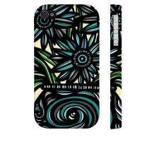 Buy Chalifour Blue Green Iphone 4/4S Apple Phone Case Flowers Botanical