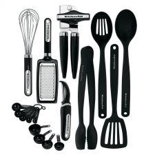 Buy NEW KitchenAid Cooking Utensils Tools Gadget Kitchen Set 17 piece Black
