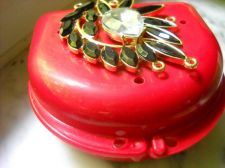 Buy Bling Denture Red Case Black Gem Jewelry Pretty Woman Partial Bridge Retainer