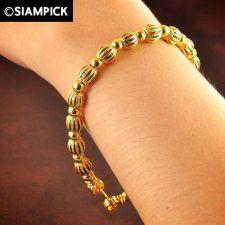 Buy Thai Baht Yellow Gold Plated 22k 24k Enamel Bracelet Chain Bangle Jewelry B014