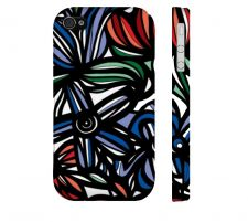 Buy Bintz Red Blue Green Iphone 4/4S Apple Phone Case Flowers Botanical