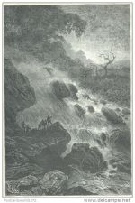 Buy PERU - GAROTE RIVER NEARBY RIVER'S SPRINGS - engraving from 1872