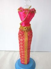 "Buy PINK THAI NATIONAL TRADITIONAL HANDMADE DRESS UP FOR BARBIE, Dolls 12"" COSTUMES"