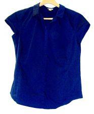 Buy EUC women's, Sz. L Worthington, dark blue, cap sleeve, button down shirt