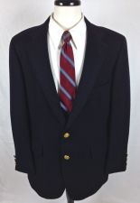 Buy VTG Benjamin Blazer 42 R Mens Navy Blue Wool Sport Coat Jacket