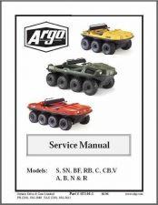 Buy Argo 6x6 and 8x8 Amphibious ATV Service Manual CD .. S SN BF RB C CB V A B N R