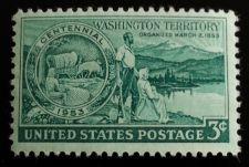 Buy 1953 3c Washington Territory Centennial Scott 1019 Mint F/VF NH