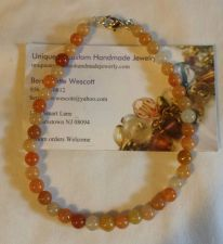 Buy red aventurine handmade anklet sizing available