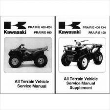 Buy 97-02 Kawasaki Prairie 400 4X4 ATV Service Repair Workshop Manual CD KVF400 KVF