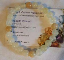 """Buy gemstone italian """"onyx"""" handmade bracelet sizing available"""