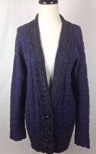 Buy Free People Sweater M Womens Blue Wool Long Sleeve