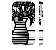 Buy Stockwell Black White Flowers Floral Botanical Iphone 4/4S Phone Case