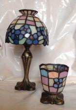 Buy Partylite Hydrangeas Tealight Lamp & Votive Holder Tiffany Style Set EUC