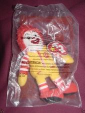 Buy Ronald McDonald #4 2009 Ty Teenie Beanie McDonalds 30 Year Happy Meal Toy