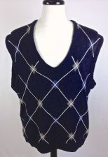 Buy Callaway Sweater Mens XL Blue Wool Argyle Vest