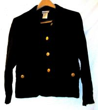 Buy EUC women's, sz. PM, Coldwater Creek, black, long sleeve, button down shirt