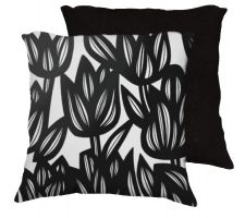 Buy Heyliger 18x18 Black White Pillow Flowers Floral Botanical Cover Cushion Case Throw P