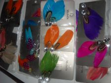 Buy Feather hair clips double carded assorted styles color lot 24 crafts beauty