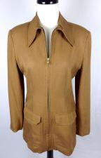 Buy Banana Republic Jacket S Women Brown Wool Long Sleeve