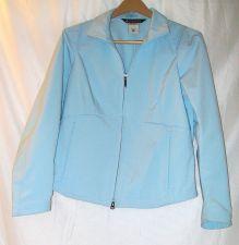Buy EUC women's, sz. M, Columbia, light blue, long sleeve, light weight, zip jacket