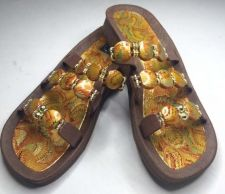 Buy Grandco Beaded Sandals Flip Flop Slides Women Pools Beach Brown w Flower 5 8 10
