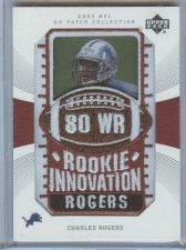 Buy NFL 2003 UD Patch Collection Charles Rogers PATCH MNT