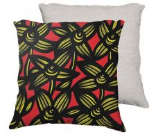 Buy Gunzelman 18X18 Yellow Red Flowers Floral Botanical White Back Cushion Case Throw Pil
