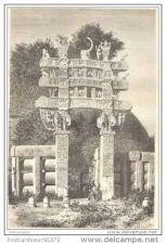 Buy INDIA - NORTHERN GATE OF TOPE DE SANCHI - engraving from 1873