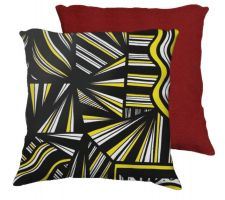 Buy Bassham 18X18 Yellow Black Red Back Cushion Case Throw Pillow Cover 631 Art