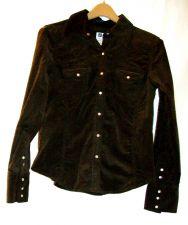 Buy EUC women's, sz. M, GAP, brown, western style, long sleeve, corduroy jacket