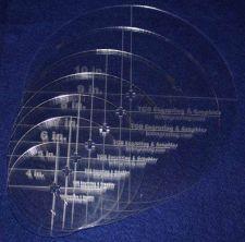 "Buy 7 Piece Set Quilt Circles w/ Cross cut & Hole 1/8"" Acrylic 4"",5"",6"",7"",8"",9""10"""
