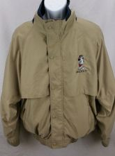 Buy Disney Mickey Mouse Golf Jacket Size L Kacki Color Full zip / Button Embroidered