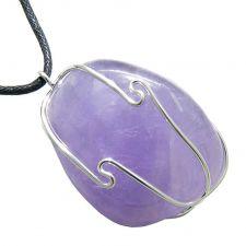 Buy Italian Horn Rose Quartz Pendant Necklace on Black Leather Cord Pendant Necklace
