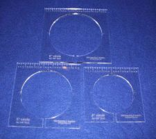 """Buy 3 Piece Inside Circle Set w/Rulers ~1/4"""" Thick - Long Arm- For 1/4"""" Foot"""