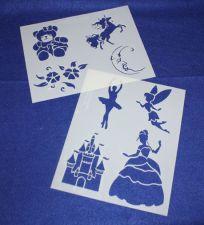 Buy 2 Pc Set -Mylar 14 Mil Children's Stencils G Painting/Crafts/Stencil/Template