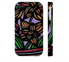 Buy Dostie Yellow Blue Black Iphone 4/4S Apple Phone Case Flowers Botanical