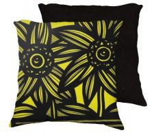 Buy Pillion 18x18 Yellow Black Pillow Flowers Floral Botanical Cover Cushion Case Throw P