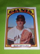 Buy VINTAGE RON BRYANT GIANTS 1972 TOPPS #185 GD/VG