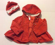 Buy Gymboree Woodland Friends Velvet Coat Orange And Hat Size 4t-5t