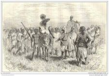 Buy NIGER - ACCOMPANIED BY LOCAL PEOPLE - engraving from 1883
