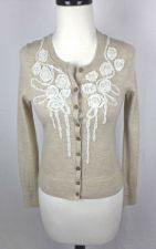 Buy Banana Republic Sweater S Womens Beige Wool Long Sleeve