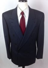 Buy Yves Saint Laurent Blazer Mens 40 R Blue Wool Sport Coat Jacket YSL